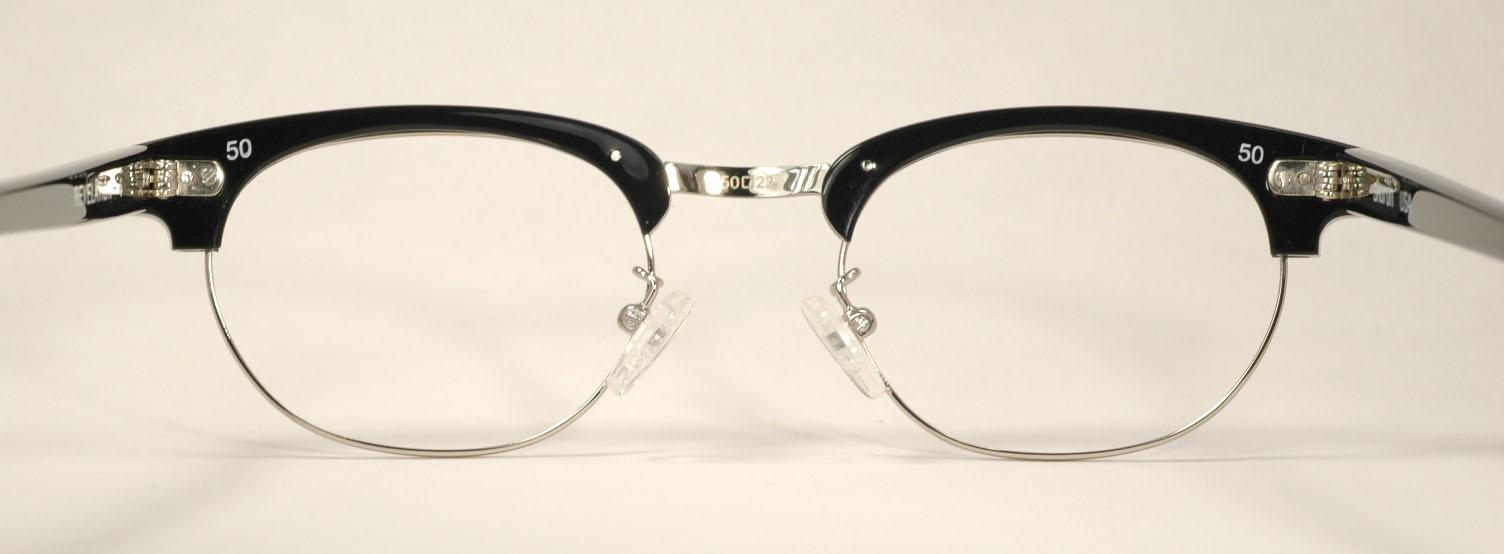 05743c0788 Optometrist Attic - SHURON RONSIR REVELATION BLACK SILVER EYEGLASSES