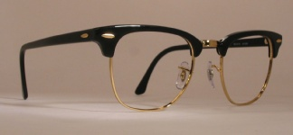 d2f6daa1bfd Optometrist Attic - RAY-BAN G-MAN MALCOLM X VINTAGE BLACK GOLD ...