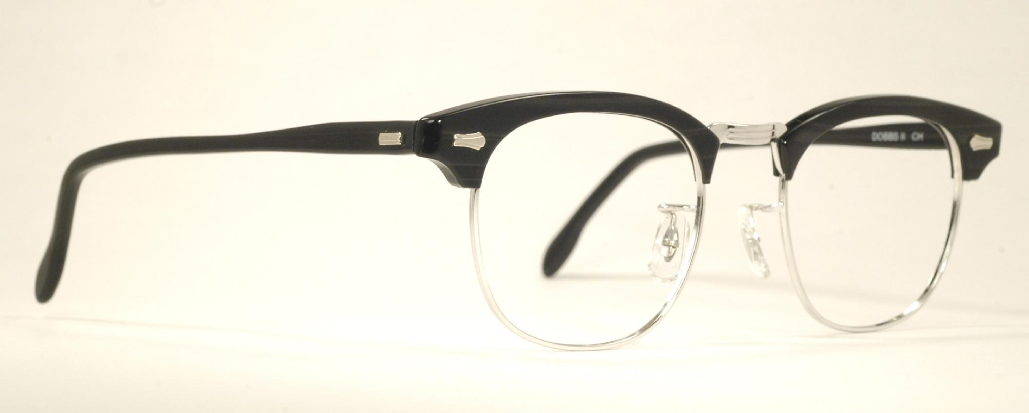 Optometrist Attic - SRO G-MAN MALCOLM X VINTAGE BLACK SILVER EYEGLASSES