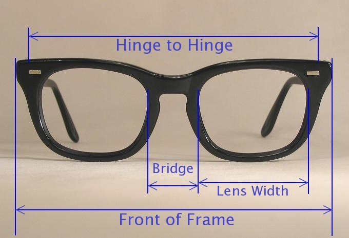 Eyeglass Measurements On Frame : Sizing