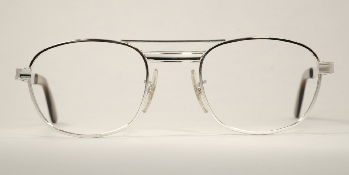 Optometrist Attic - CLASSIC VINTAGE SILVER TITMUS METAL EYEGLASSES