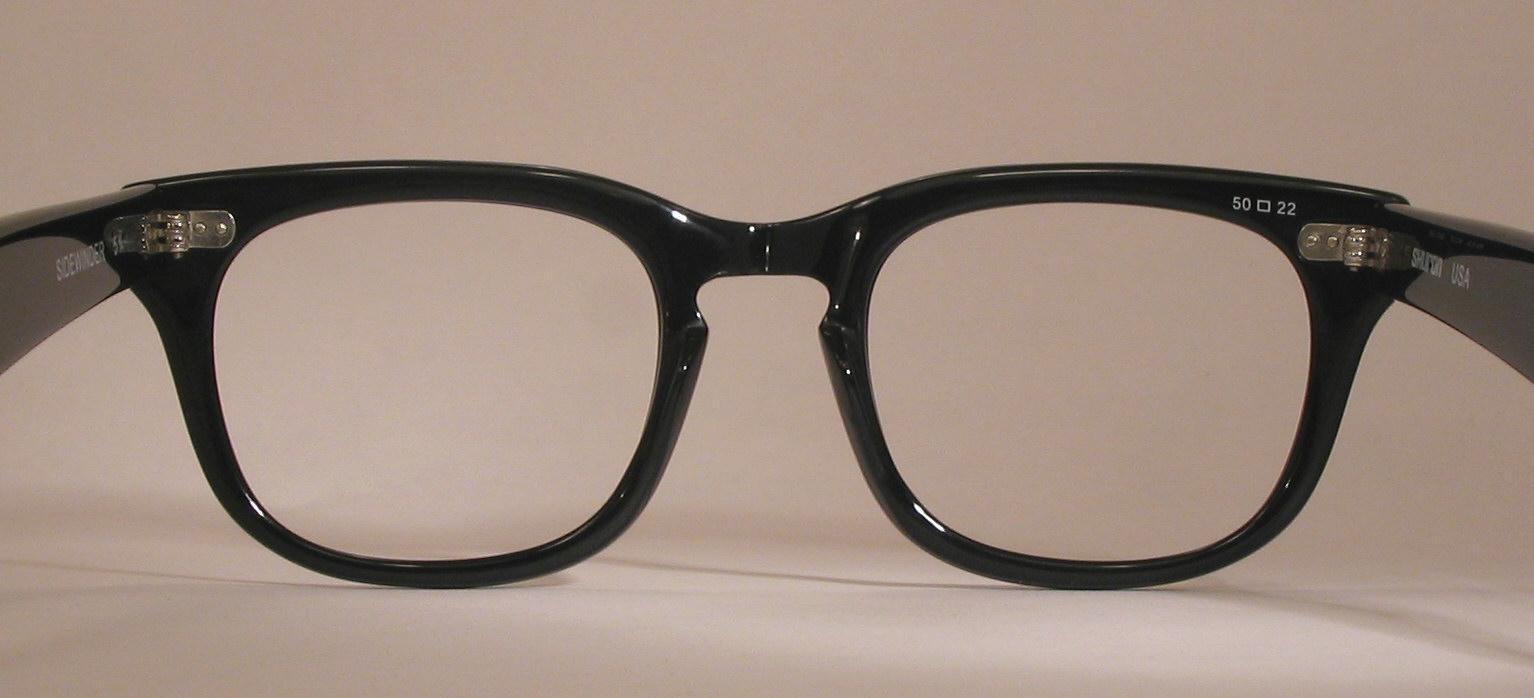dac88562f890 Optometrist Attic - BLACK SHURON SIDEWINDER EYEGLASSES