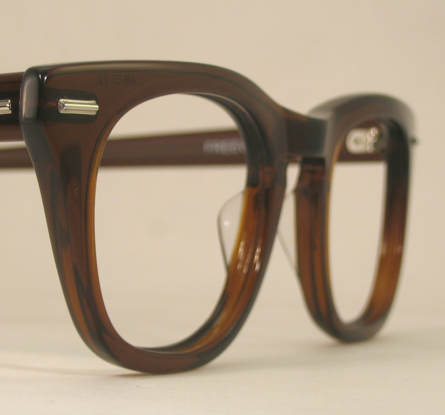 Optometrist Attic - SHURON FREEWAY Brownsmoke CLASSIC EYEGLASS FRAMES