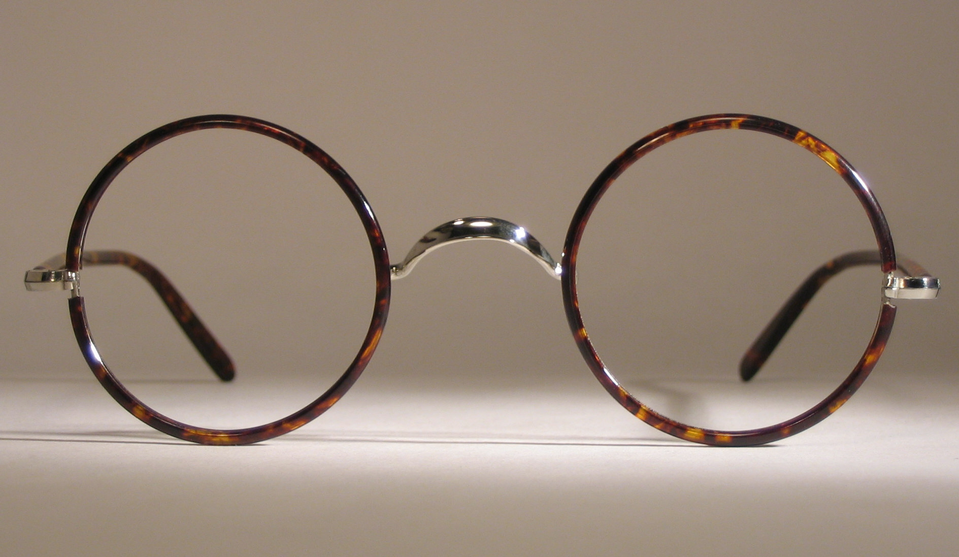 Optometrist Attic Silver Round Windsor Antique Eyeglasses
