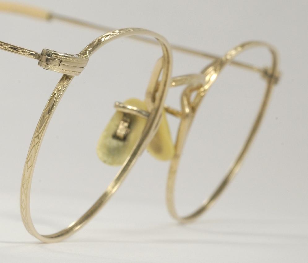 Gold Wire Eyeglass Frames : Optometrist Attic - A-C GOLD WIRE RIM VINTAGE EYEGLASSES