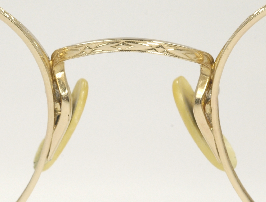 Gold Wire Glasses Frames : Optometrist Attic - A-C GOLD WIRE RIM VINTAGE EYEGLASSES