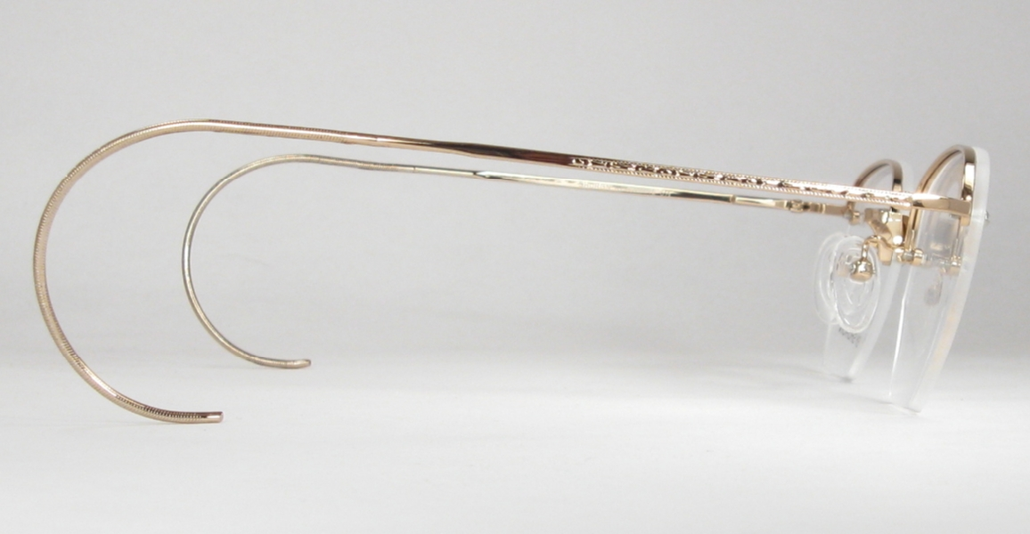 7a345127529 Optometrist Attic - SHURON GOLD RIMWAY RONWINNE HALF-RIM EYEGLASSES