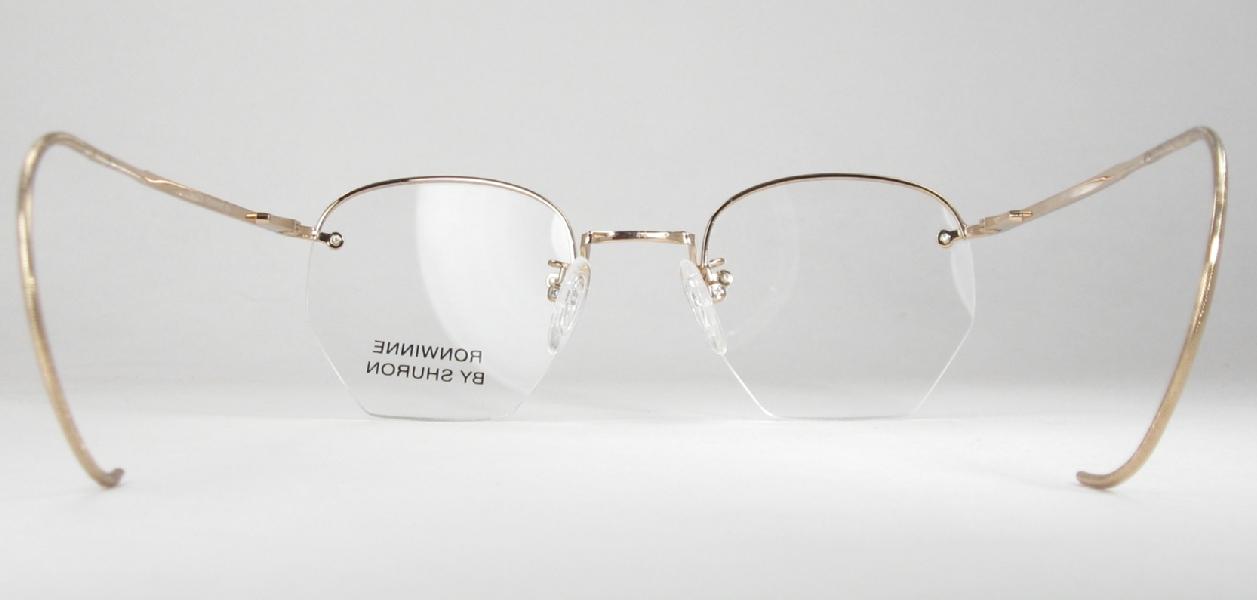 8d6c8c72806 Optometrist Attic SHURON GOLD RIMWAY RONWINNE HALF RIM EYEGLASSES