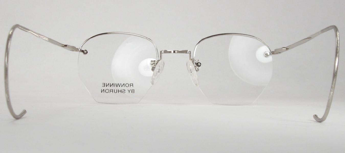 80d09327026 Optometrist Attic - SHURON SILVER RIMWAY RONWINNE HALF-RIM EYEGLASSES