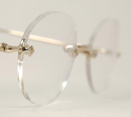 e86ac8457013 Optometrist Attic - SAVILE ROW GOLD DIAFLEX RIMLESS 3 PIECE EYEGLASSES