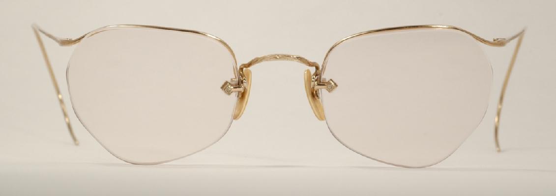 e30213a1505d Optometrist Attic - AO GOLD NUMONT HALF-RIM SEMI-RIMLESS WIRE RIM ...