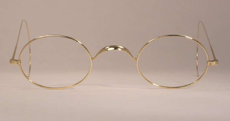 Optometrist Attic - STEVENS AND COMPANY GOLD WIRE RIM OVAL ...