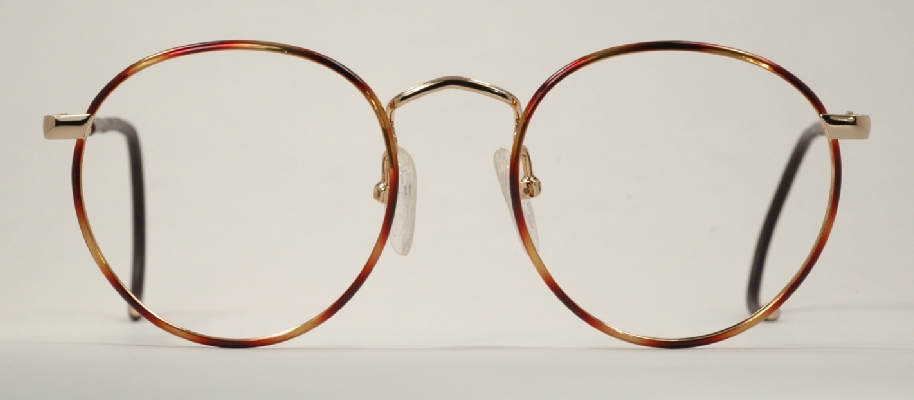 Big Wire Frame Glasses : Optometrist Attic - MILAPPE GOLD TORTOISE WIRE RIM FUL-VUE ...