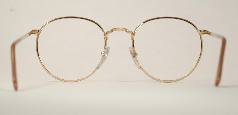 b0cf6bf24f1 Optometrist Attic Ful Vue P3 Panto Gold Tortoise Wire Rim Eyeglasses