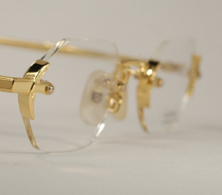 Gold Frame Rimless Glasses : Optometrist Attic - AO GOLD RENAISSANCE CORTLAND 301 ...