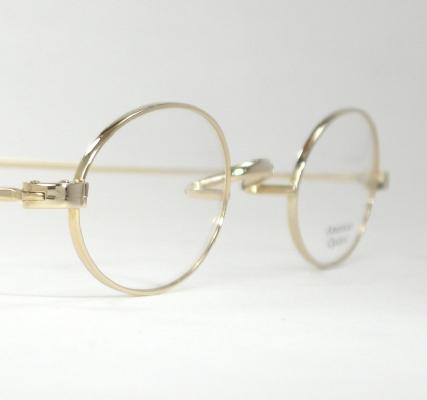 Optometrist Attic - AO VARSITY GOLD WIRE RIM OVAL EYEGLASSES