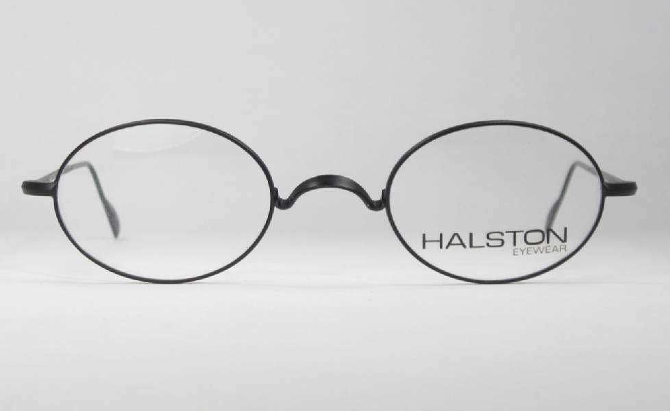 Glasses Frames Saddle Bridge : Optometrist Attic - HALSTON BLACK WIRE RIM OVAL SADDLE ...