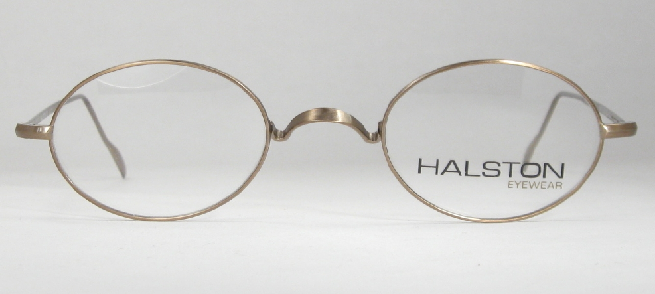 Glasses Frames Saddle Bridge : Optometrist Attic - HALSTON gold WIRE RIM OVAL SADDLE ...