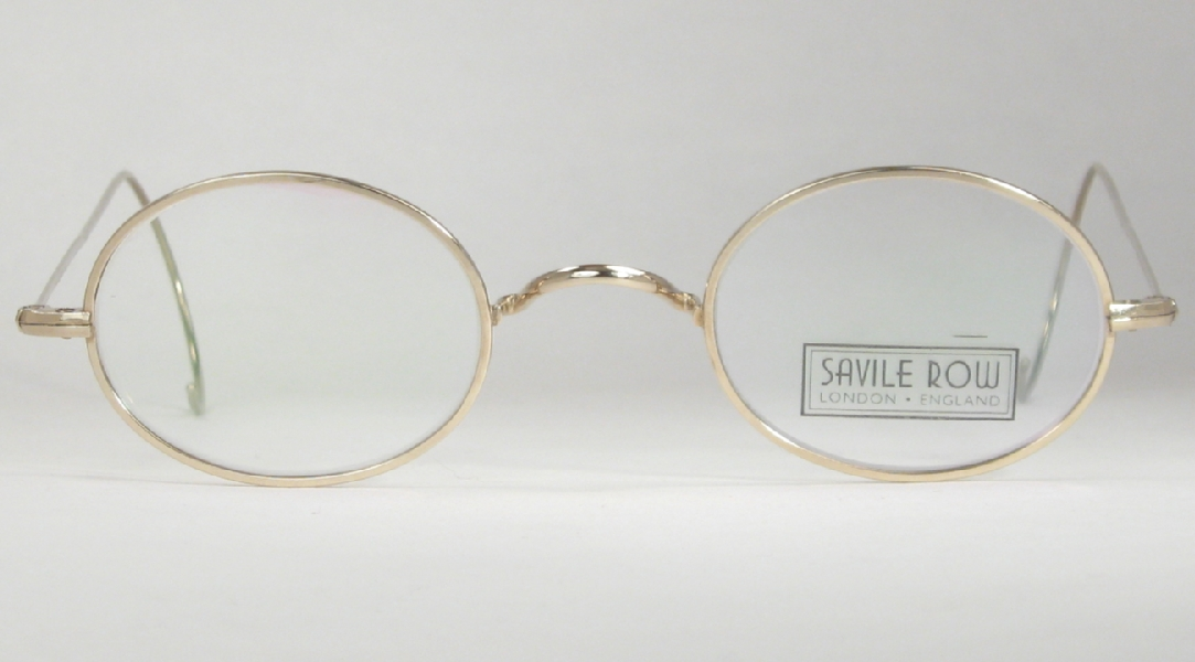 Optometrist Attic - S-R GOLD OVAL SADDLE BRIDGE EYEGLASSES