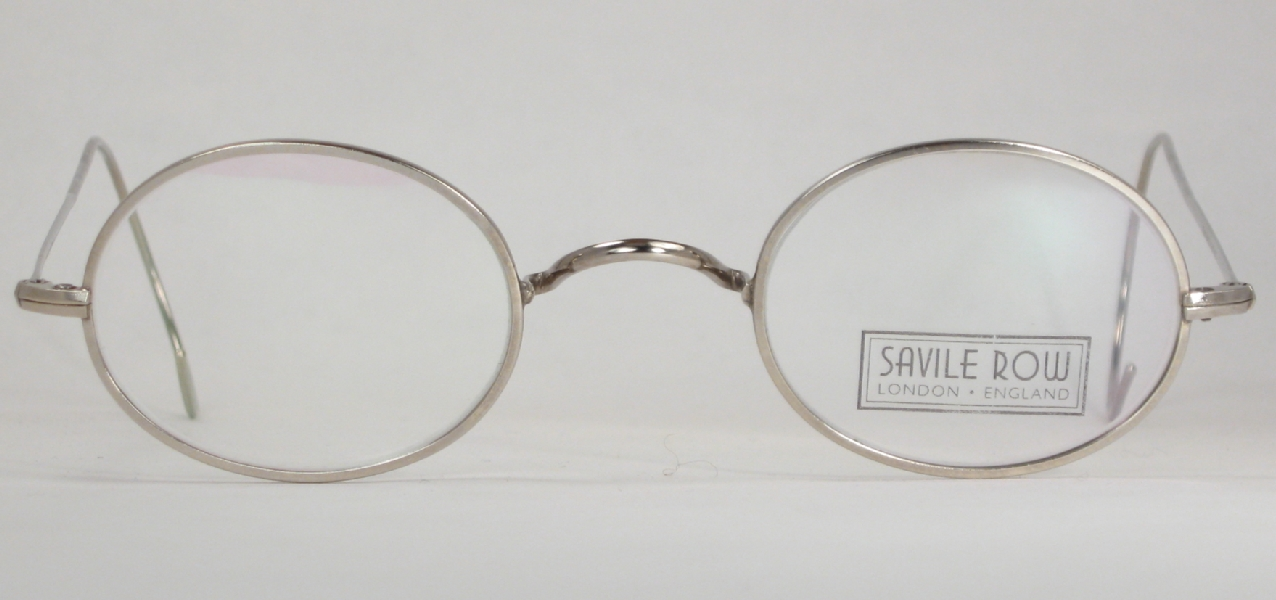 Glasses Frames Saddle Bridge : Optometrist Attic - S-R SILVER OVAL SADDLE BRIDGE EYEGLASSES