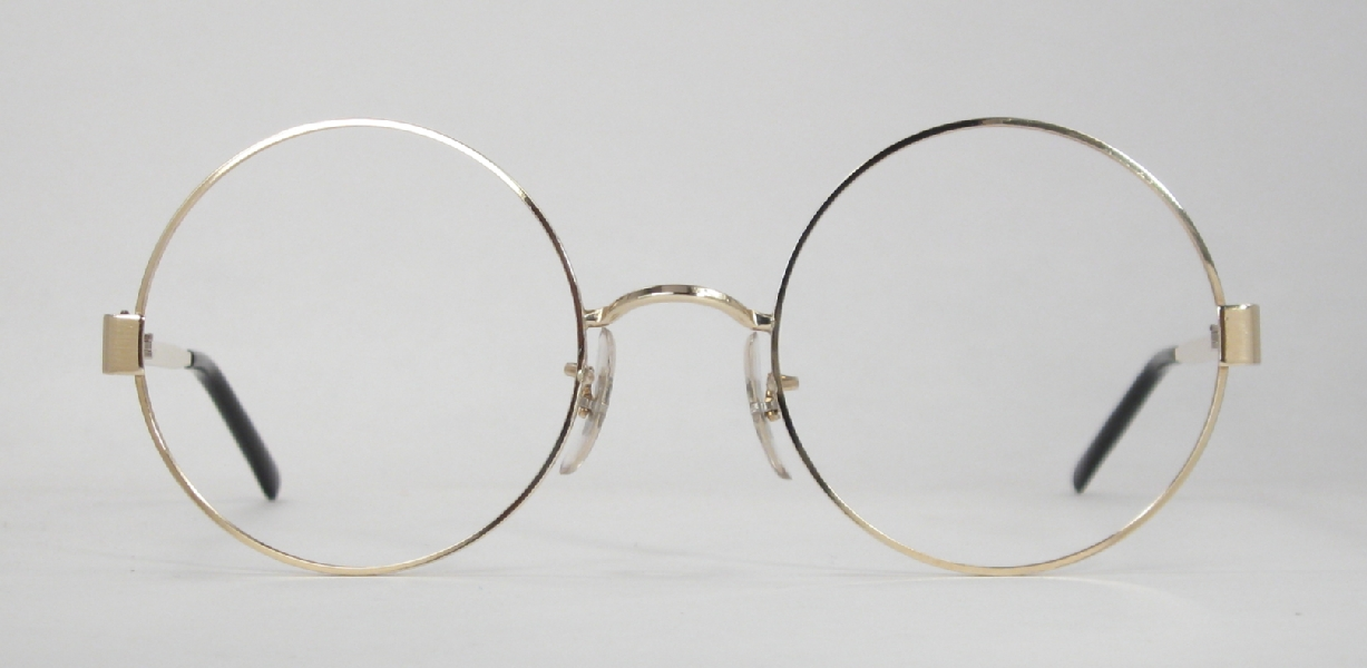 Optometrist Attic - IMPERIAL GOLD COLLEGE ROUND WIRE RIM VINTAGE ...